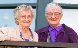 Medical Mission Sisters Teresa Arac, left, and Estelle Demers return to help celebrate the 30th anniversary of the Boyle McCauley Health Centre, a venture they started.