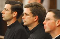 Pope Benedict has told seminarians the priestly ministry is crucial to helping people see God's presence in the world.