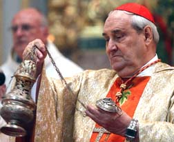 Cardinal Jean-Claude Turcotte incenses the altar during the Canonization Mass.