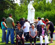 Pilgrims journey to Lac Ste. Anne every year to honour St. Anne.