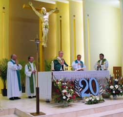 Archbishop Richard Smith celebrated Mass marking Our Lady Queen of Poland's 20 yrs.