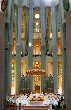 Pope Benedict celebrates a Mass at which he consecrated the Basilica of Sagrada Familia in Barcelona, Spain, Nov 7