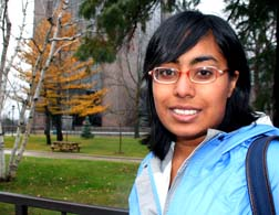 Adopted by an Ottawa couple, student Ruth Lobo plans to work with Canadian Centre for Bio-ethical Reform once she graduates.