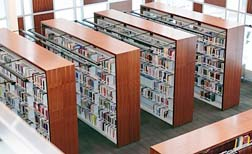 The Newman Theological College Library has 75,000 volumes stacked on two levels
