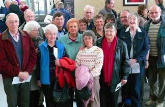 Twenty-five Catholics from Olds, including this group, attended the Feb. 12 open house at Newman Theological College and St. Joseph Seminary.