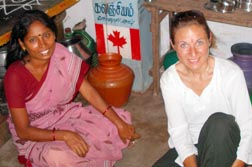 Carla Cuglietta visits an Indian home using donated water filters.