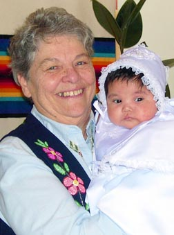 Assisting with Baptisms was part of Sr. Bernadette Gautreau's pastoral work at St. Joseph Parish in John D'Or Praire.