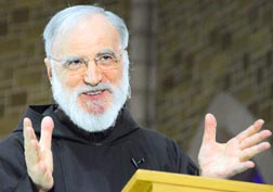 Fr. Raniero Cantalamessa, preacher to the papal household, spoke at the May 5 Nothing More Beautiful session at St. Joseph's Basilica.