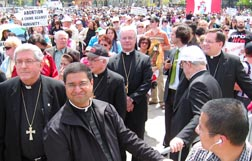 Toronto Archbishop Thomas Collins and other bishops joined the 15,000 people who took part in the national March for Life May 12.