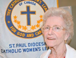 Sheila Houle, new provincial president has been a member of the CWL in Morinville for 33 years.