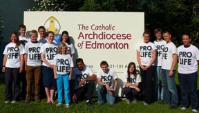 Crossroads members stopped for three days in Edmonton before they continued their pro-life walk across Canada.