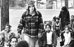 Joe Varano with the Jesus Volunteer Corps. Cares for Seattle children in this 1972 photo.