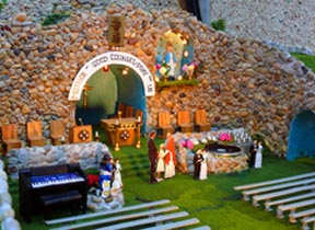 Replica of The Grotto of Our Lady of Lourdes, north of Lamont.