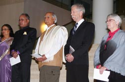 Representatives of various faiths came out to mark the fifth anniversary of Edmonton's innovative Celebrating Our Faiths Program.