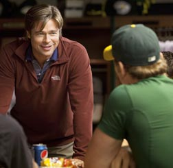 Brad Pitt stars in a scene from the movie Moneyball, a film Fr. Robert Barron says epitomizes a seeker's spiritual journey.