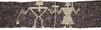 A wampum belt from Quebec symbolizing the First Nations forming an alliance with French Catholic colonizers is part of the Vatican Museums' ethnological collection.