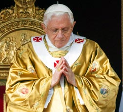 Pope Benedict celebrates Mass Oct. 23.