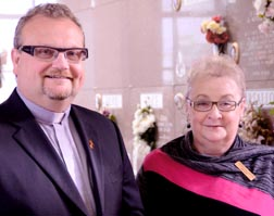 Deacon Paul Croteau and Denise Rivest of Edmonton Catholic Cemeteries say they want to make their organization a welcoming for those seeking burial of their Catholic relatives.