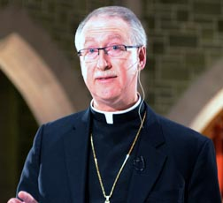 Archbishop Richard Smith discussed the fundamentals of Christian discipleship Oct. 27.
