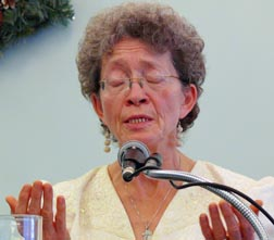 Doreen Trudeau spoke of her challenging life at the Catholic Charismatic Prayer Breakfast.