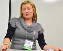 Elizabeth Leenheer told the Restorative Justice Conference how tragedy softened her heart.