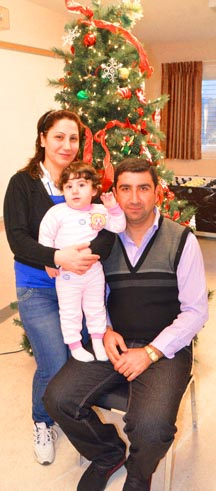 Ziyad, Dalia and Kristel Matti arrived in Edmonton this month after fleeing persecution in Iraq.