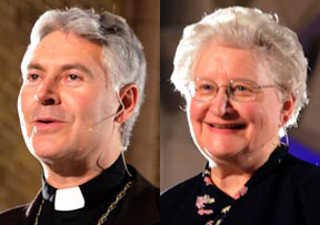 Bishop Murray Chatlain and Sr. Eileen Schuller gave the presentations at the Dec. 9 session of Nothing More Beautiful