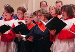 Combined choirs formed the United Voices of Edmonton at the Jan. 22 service for the Week of Prayer for Christian Unity.