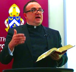 Fr. Stefano Penna says, 'Stewardship is Jesus Christ, a true person.'