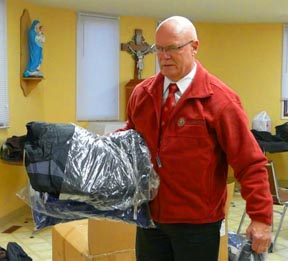 State Deputy Gary Johnson says bringing coats to kids in burnt-out Slave Lake last year was the highlight of his first year heading the Alberta/NWT Knights of Columbus.