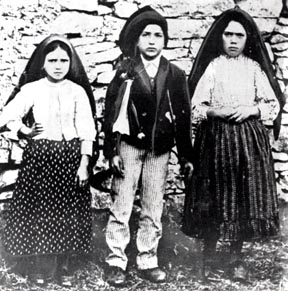Shortly after Mary appeared to them near Fatima, Portugal in 1917, Jacinta Marto, 7, her brother Francisco, 9 and their cousin Lucia dos Santos, 11, were photographed.