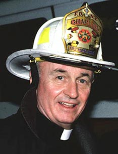 Franciscan Father Mychal Judge, a chaplain with the New York Fire Department, died while giving last rites to a firefighter in the aftermath of the terrorist attacks that brought down the World Trade Centre.