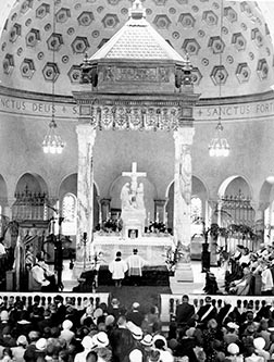 This photo, taken in 1930, shows the layout of a pre-Vatican II sanctuary.