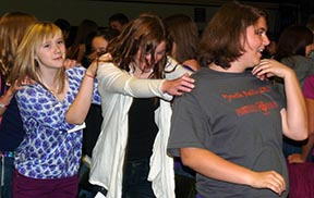 Participants in the archdiocesan annual youth rally took part in a number of games as well as faith-based activities.