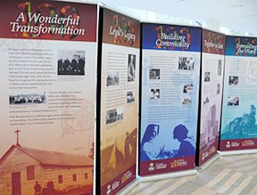 One hundred years of archdiocesan history are captured in this exhibit on display at Edmonton City Hall.