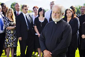 A funeral is an opportunity for a deceased's loved ones to grieve his or her death.