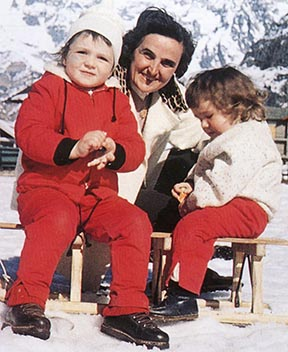St. Gianna Molla, a modern-day working mother and wife, is pictured with her son Pierluigi and daughter Mariolina in an undated photo.