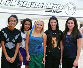 Students and staff provide a welcoming atmosphere at Mother Margaret Mary High School.