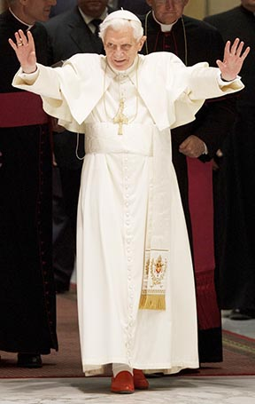 Pope Benedict says Christians must give the world a witness to the living God.