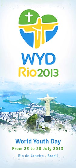 This is a banner ad for World Youth Day to be held in Rio de Janeiro July 23-28. Pope Benedict will attend the international Catholic youth gathering.