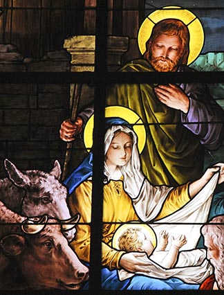 You will find a child wrapped in bands of cloth and lying in a manger. - Luke 2.12