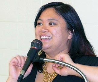 Rene Desilva shared her journey of faith at St. Charles Church Jan 20.