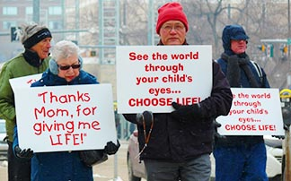 Thirty demonstrators speak out telling why they protest the lack of abortion laws.