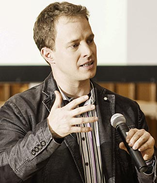 Marc Kielburger, who co-founded Free the Children, speaks at Regis College Feb. 4.