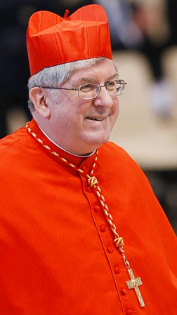 Cardinal Thomas Collins of Toronto arrives for the Mass for the election of the Roman pontiff in St. Peter's Basilica March 12.