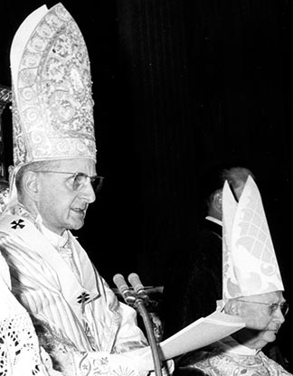 Pope Paul VI opens the second session of the Second Vatican Council Sept. 29, 1963.