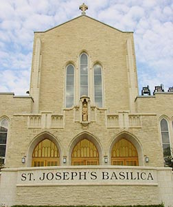 Blessed John Paul II visited St. Joseph's Basilica in 1984.