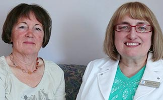 Dr. Deirde Ashton, left, and Marilyn Snow appreciate the need for quality time and space.