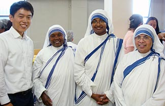 Seminarian Paul Jang Han Goo said volunteering with Missionaries of Charity sisters made him a more loving person.