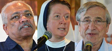 Deacon Alex Jones, Sister Catherine Marie of the Sisters of Life and philosopher Peter Kreeft gave the 2,600 people at the Catholic Family Life Conference food for the mind and the soul.
